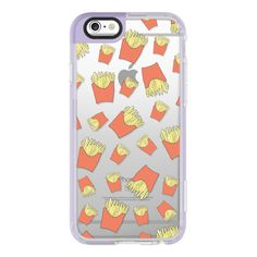 iPhone 6 Plus/6/5/5s/5c Case - FRENCH FRIES ($40) ❤ liked on Polyvore featuring accessories, tech accessories, phone, phone cases, iphone case, iphone cover case, apple iphone cases and iphone hard ca