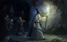 Mines of Moria / CG WARRIOR (esta artista los retrata casi exactametne como los imaginé al leer ESDLA las 7 primeras veces, excepto por el pelo de Legolas ... mi Legolas tenía pelo oscuro :)