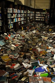 Abandoned library in Detroit, Michigan. Photo by Martin Gonzalez on Flickr. | lisanneharris.com - They look frozen too.