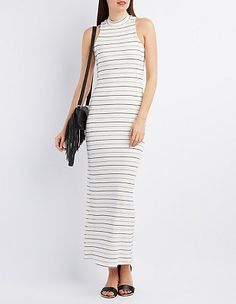 Mock Neck Maxi Dress #CharlotteLook