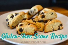 Gluten-Free Scone Recipe Elizabeth Rider. Get more free recipes at www.elizabethrider.com