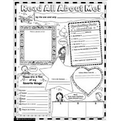 Scholastic Teaching Resources - Instant Personal Poster Sets Read All About Me on sale now! Find all of your classroom supplies at huge discounts at DK Classsroom Outlet. All About Me Printable, All About Me Worksheet, Beginning Of School, First Day Of School, About Me Template, All About Me Poster, Student Of The Week, Content Words, Star Of The Week
