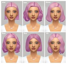 Do you know of any short female hair without bangs? I'm having a hard time finding any! Mods Sims, Sims 4 Mods Clothes, Sims 4 Clothing, Sims 4 Cc Packs, Sims 4 Mm Cc, Hair Without Bangs, Sims Love, The Sims 4 Cabelos, Pelo Sims