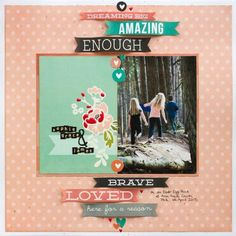 "#papercrafting #scrapbook #layout -  On an Easter Egg Hunt | Keep it Simple | Scrapbooking Layout with Simple Stories ""I am"""