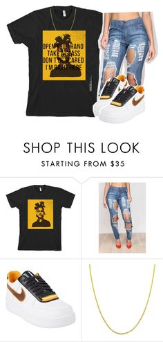 """""""Cant feel my face"""" by queen-tiller ❤ liked on Polyvore featuring NIKE and Fremada"""