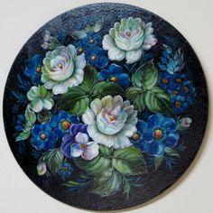 Zhostovo. Russian Hand painted.