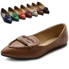 ollio Womens Shoes Pointed Toe Penny Multi Colored Ballet Flats