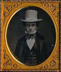 https://flic.kr/p/tYbWmA | Charles Wilber Pressey, Daguerreotype, Circa 1856 | © Ann Longmore-Etheridge Collection. This gorgeous and all-but-pristine Daguerreotype portrays Charles Wilber Pressey, most likely at the age of 21. Handsome, jaunty, and possessed of a fetching chapeau, the image may have been taken to reflect Pressey's official coming of age. He was born in 7 June, 1835, in Sandown, New Hampshire. If I am correct, that dates this image to the summer of 1856.  Located in the…