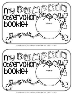 Classroom Freebies: Pumpkin Book Freebie!
