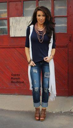 Jessica Distressed Boyfriend Jeans - Plus Size