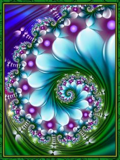 You too can be an artist when you paint with Diamonds! Every kit gives you a chance to create a work of art you can be proud of. This diamond painting kit Art Fractal, Fractal Images, Fractal Design, Motif Art Deco, Sacred Geometry, Cool Art, Abstract Art, Abstract Landscape, Artsy