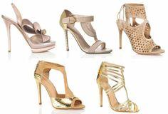 Zapatos para novias 2013 en color nude y dorado – Foto M'oda 'Operandi