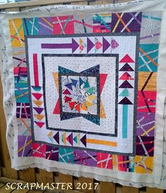 Just had to show you how I quilted up my awesome Round Robin that my talented NSQBQ buddies made for me.  You can read about it here in ca...