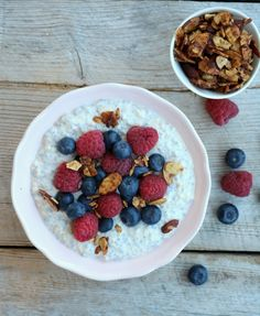 Sunn matglede Indian Food Recipes, Healthy Recipes, Healthy Food, Chia Overnight Oats, Morning Food, Acai Bowl, Oatmeal, Food And Drink, Lunch