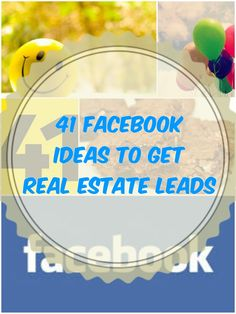 41 Ideas To Get More Leads - These ideas will help you get more traction off the biggest social network out there! Real Estate Career, Real Estate Leads, Real Estate Business, Selling Real Estate, Real Estate Broker, Real Estate Investing, Real Estate Marketing, Real Estate Advertising, Real Estate Articles