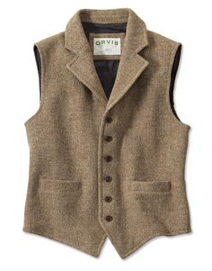 Lightweight Highland Tweed Casual Vest