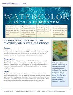 Watercolor Classroom Lesson Plans – Education Closet
