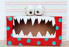 If you're looking for Valentine mailbox ideas for your kid's classroom, this Silly Monster Valentine Box is one of the best! Tattle Monster, Monster Box, Happy Monster, Monster Party, Kids Crafts, Halloween Crafts For Kids, Family Crafts, Halloween Stuff, Halloween Halloween