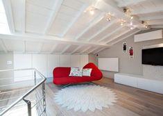Eclettico - lamadesign.it Bean Bag Chair, Stairs, Loft, Interior Design, Bed, Furniture, Home Decor, Interior Design Studio, Lofts