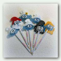 Smurfs c/ Lápis Da Bibiella- Kit C/ 10