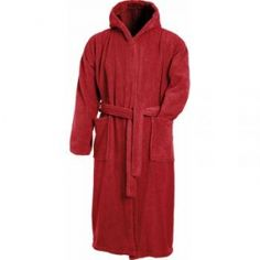 Peignoir à capuche en éponge - MB430 - rouge bourgogne Beach, Products, Vintage, Fashion, Dress Up Wardrobe, Man Women, The Beach, Cotton, Color