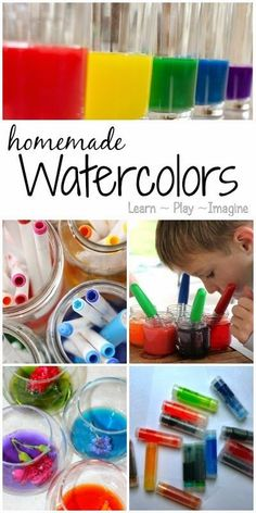 8 frugal and fun recipe for making homemade watercolor paints