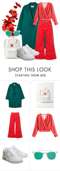 """""""Aqua red"""" by jessicajasr on Polyvore featuring MANGO, Fjällräven, MSGM, NIKE and Forever 21"""