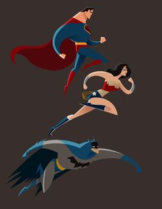 the trinity - superman / wonder woman / batman