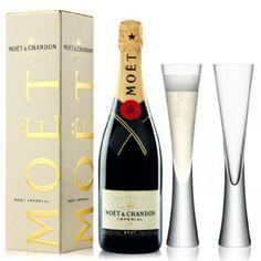 View Moet & Chandon Brut NV 75cl with LSA Moya Champagne Flutes