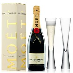 View Moet & Chandon Brut NV 75cl with LSA Moya Champagne Flutes