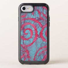 Whimsical Funky Abstract Batik Spirals Pattern Speck iPhone Case - cool gift idea unique present special diy