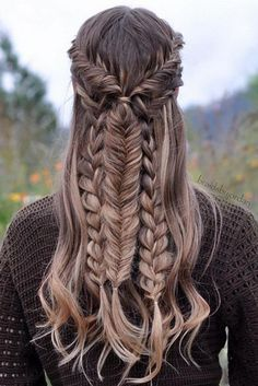 Imagen de braid, hair, and hairstyle