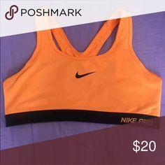 Nike sports bra Neon orange Nike sports bra Nike Intimates & Sleepwear Bras