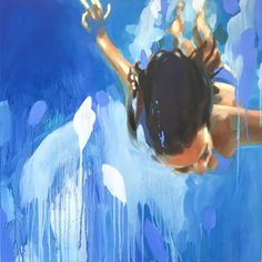 "Saatchi Art Artist Elizabeth Lennie; Painting, ""The Water Planet"" #art"