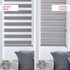 Best Panel Track Blinds For Glass Doors ZebraBlinds. Where To Hang Blinds In Deep Windows ZebraBlinds Canada. Home Design Ideas Blinds For Windows Living Rooms, House Blinds, Fabric Blinds, Curtains With Blinds, Decor Blinds, Bay Window Blinds, Bay Windows, Stores Horizontaux, Cortinas Rollers