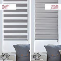 Store à rouler en toile fine grise/Toiles fine/Toiles à rouler/Toiles/Fenêtres|Bouclair.com