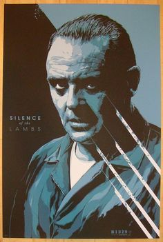 """2013 """"Silence Of The Lambs"""" - Variant Movie Poster by Ken Taylor"""
