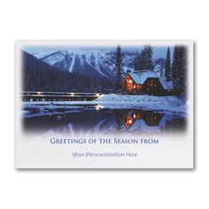 57 best nature christmas cards images on pinterest christmas cards peaceful serenity custom printed business holiday cards httppartyblockinvitationsoccasions sa colourmoves