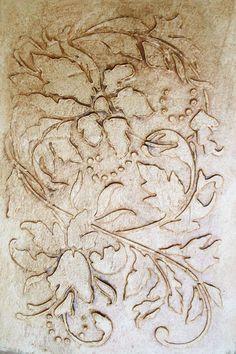 Large Plaster Stencil Antoinette Wallpaper Wall Stencil