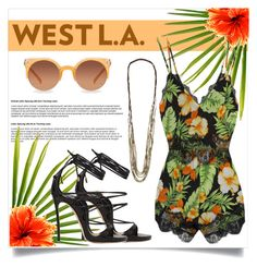 """""""SUMMER FLORALS WITH WEST L.A."""" by mfardilha ❤ liked on Polyvore featuring Quay, Amano Studio, Dsquared2, Madison Square, Summer, floralprint, summerstyle, summer2015 and SoTotallyLA"""