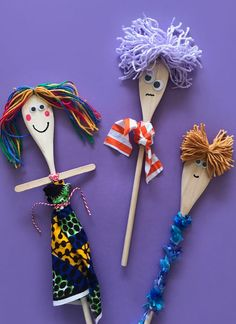 Do It Yourself Discover Ideas Preschool Church Crafts, Bee Crafts For Kids, Summer Crafts, Crafts For Teens, Art For Kids, Puppet Crafts, Doll Crafts, Wooden Spoon Crafts, Wooden Spoons