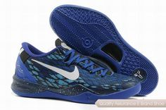 low priced 6ad46 41d57 Nike Kobe 8 System Basketball Shoes Snake Blue Black.Cheap NBA Basketball  Shoes for Sale