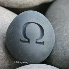 Geek gift - Engraved omega stone paperweight