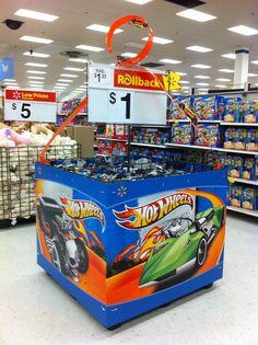 Retail Point of Purchase Design | POP Design | Toys & Games POP | Hot Wheels at Walmart