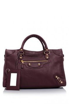 Balenciaga Giant City Gold Hamilton Tote (Bordeaux)    Love the purplish hue!