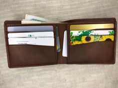 Classic Bifold Wallet, Mens leather wallet, Leather wallet, Awesome gift wallet, Slim Leather Wallet, Handmade Wallet With Cash Card, Bifold Slim Leather Wallet, Slim Wallet, Leather Men, Amazing Pics, Awesome, Handmade Wallets, Getting Wet, Minimalist Design, Best Gifts