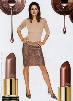 Revlon Ad ~ Model: Cindy Crawford, when everything was brown in the nineties Makeup Ads, Retro Makeup, Vintage Makeup, Vintage Beauty, 1990s Makeup, 90s Fashion, Runway Fashion, Fashion Beauty, Vintage Fashion