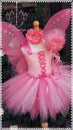 Pink Pixie Tutu Dress SET ALL CHILDREN Sizes by LolaJBoutique