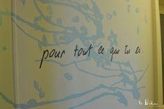 Déco murale originale pour un cabinet de thérapeute à Lausanne