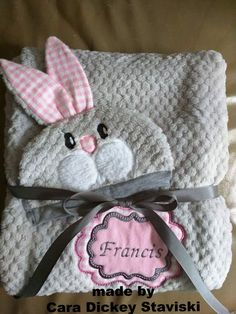 Bunny baby hat ITH in the 6x10 hoop | Sweet Pea Machine Embroidery Designs